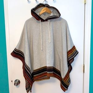 Altar'd State Colder Days Hooded Hoodie Poncho